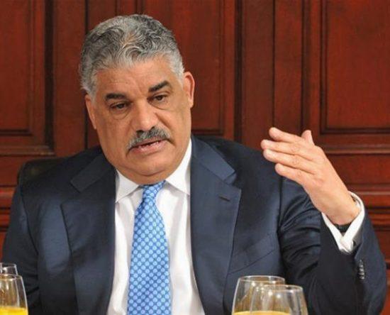 Miguel Vargas rechaza informe de EE.UU sobre deficiencias institucionales