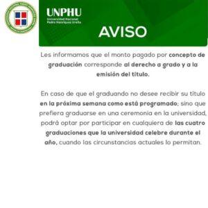 Estudiantes de la UNPHU dicen respuesta recibida no corresponde a su demanda