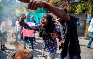 Haitianos se manifiestan a favor de la renuncia del presidente Moïse