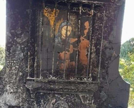 Queman santuario de la Virgen de la Altagracia en Dajabón