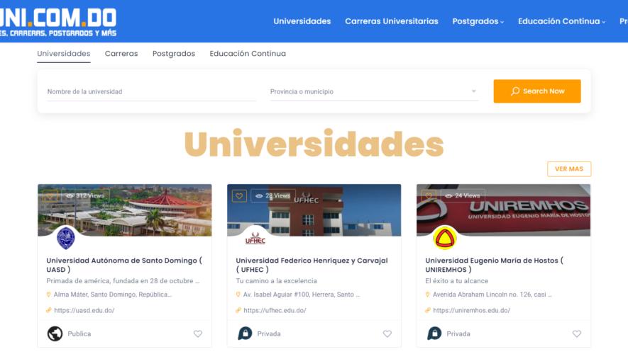 UNI.COM.DO - Universidades en Republica Dominicana