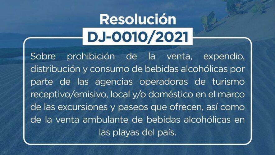 Turismo prohibe la venta de bebidas alcohólicas en playas y tours